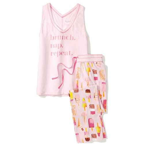 Brunch Nap Repeat Pajama Set- Dorm Room Ideas