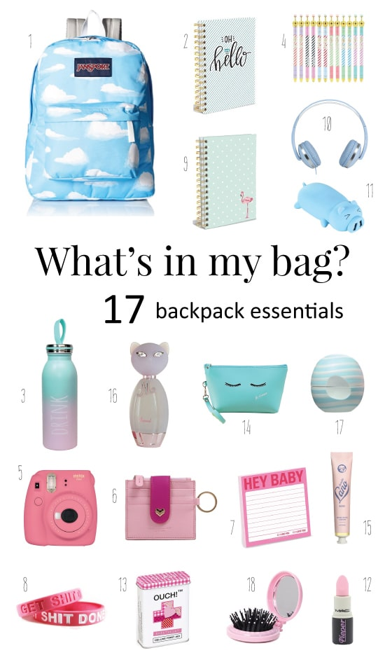 Whats in my bag? School Backpack Essentials