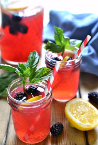 halloween punch recipe | blackberry basil vodka lemonade