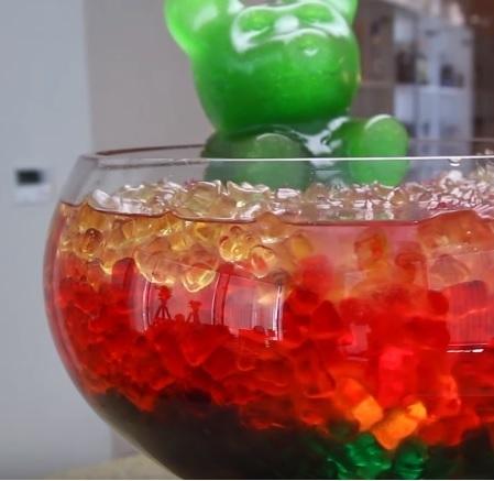 halloween punch recipe | vodka gummy bear jungle juice