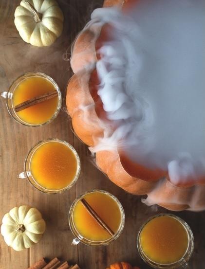 halloween punch recipe | pumpkin cauldron punch