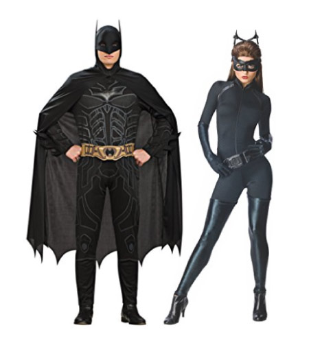 Batman and Cat Woman Halloween costume - halloween-couples-costumes