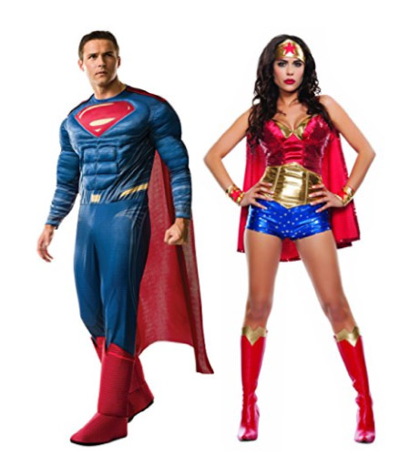 Superman and Wonder Woman - - halloween-couples-costumes