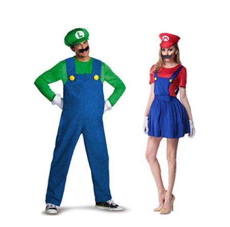 Mario and Luigi II - halloween-couples-costumes