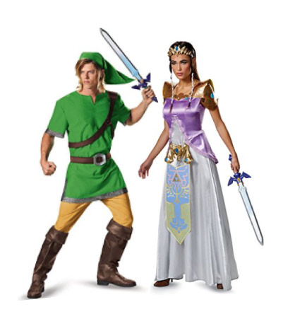 Legend of Zelda - Link & Princess Zelda costumes - halloween-couples-costumes