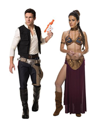 Star Wars - Han Solo and Princess Leia couple costume - Halloween Costumes for Couples