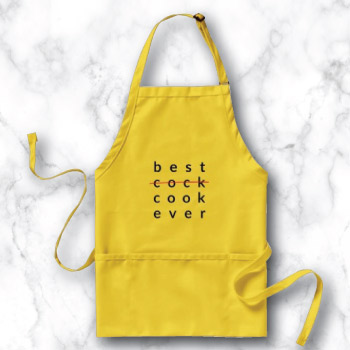 Funny novelty apron for guys - best cook ever yellow