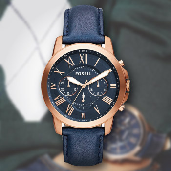 Cool watch for men - Fossil Grant Navy