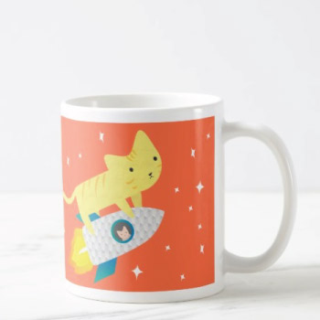 Rocket Cat Mug - christmas-gift-ideas-teen-girls