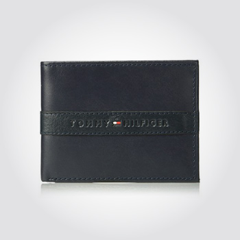 Tommy Hilfiger RFID blocking leather passcase wallet