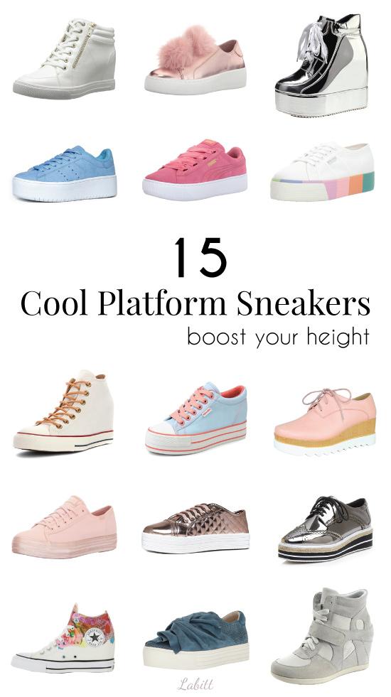 Height-Boosting Wedge Platform Sneakers