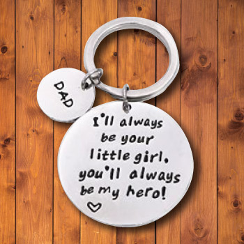 Father Daughter Keychain for Dad