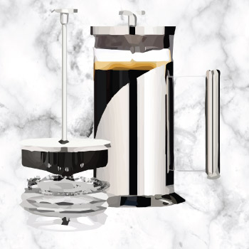 Quality Cafe Du Chateu french press for coffee lover dad