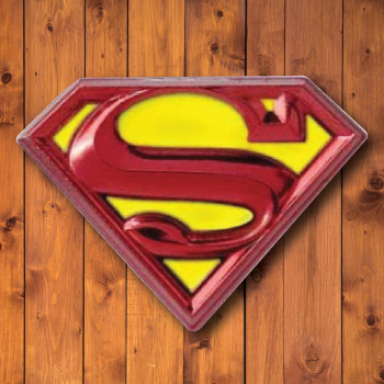 Superman inspired lapel pin