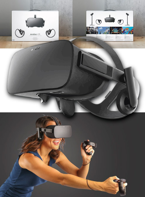 Oculus Rift VR gaming gear. Cool and trendy gift for teen guys