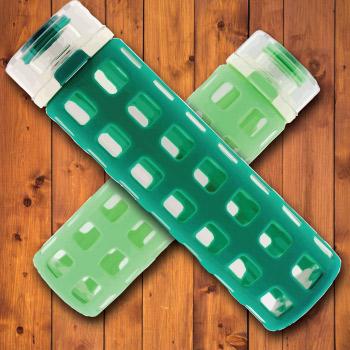 BPA free water bottle. Mint green.