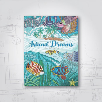 Adult coloring book - Island Dreams