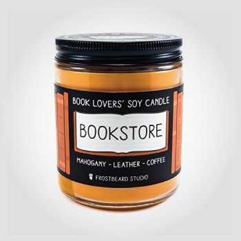 Soy candle for book lovers