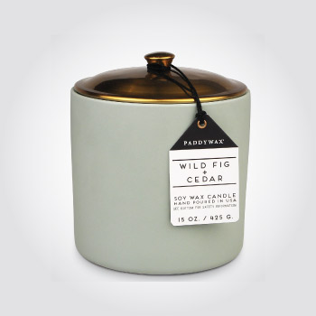 Wild fig and cedar soy wax candle
