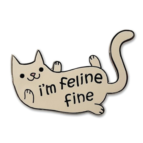 Feline Fine Cat Lapel Pin