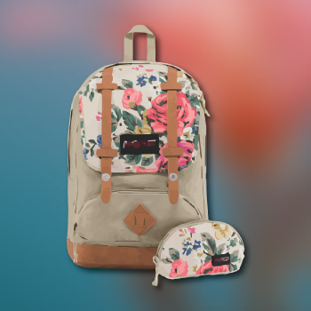 jansport floral backpack - practical valentine's day gift ideas for teens - school supply