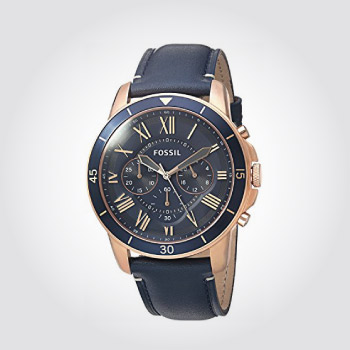 Fossil watch - Navy - gift for boyfriend