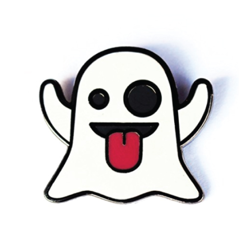 Ghost Emoji Pin Badge
