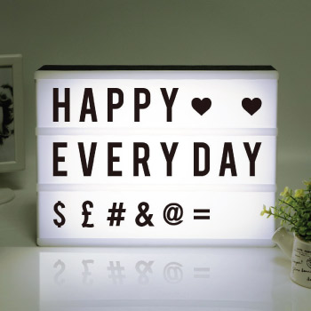 Customizable decorative light box