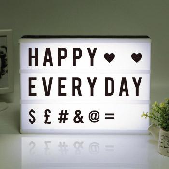 Customizable decorative light box