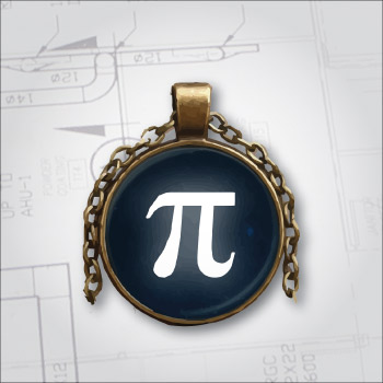 Inspirational pendant necklace for engineers, scientists, and mathematicians. National Engineers Week 2018.
