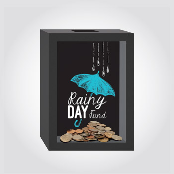 Rainy day fund coin bank