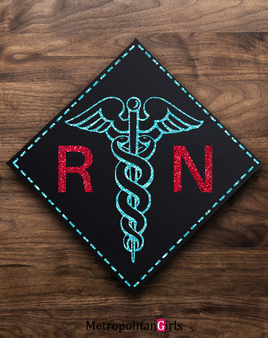 Nurse RN BSN LPN graduation cap decoration idea