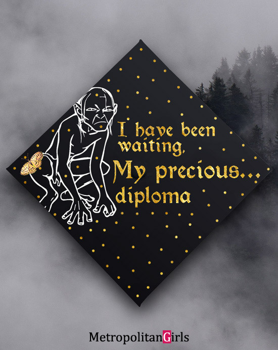 Graduation cap decoration idea funny Lord of the Ring