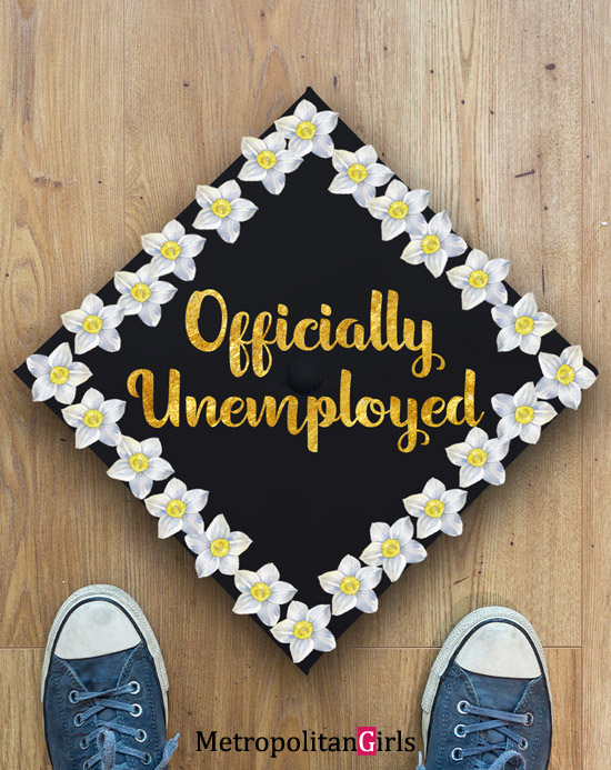 Funny DIY graduation cap decoration idea
