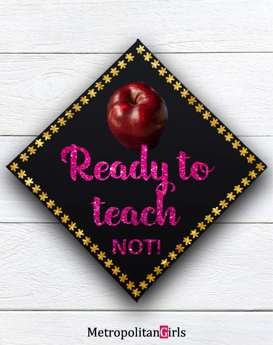 Funny graduation cap decoration for teacher #diy