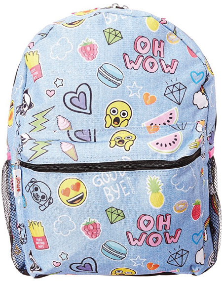 20 Emoji Back to School Supplies. Emoji Backpack.
