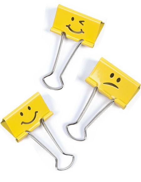 20 Emoji Back to School Supplies. Emoji binder clips.