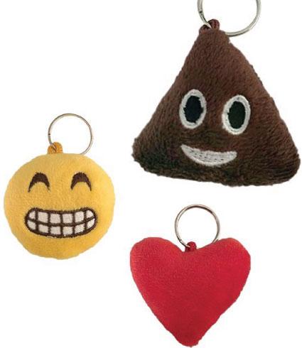 20 Emoji Back to School Supplies. Emoji keychains.