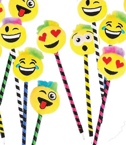 20 Emoji Back to School Supplies. Emoji Pencils.