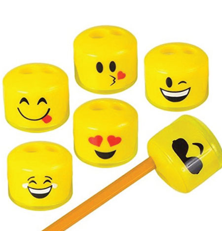 20 Emoji Back to School Supplies. Emoji sharpeners.