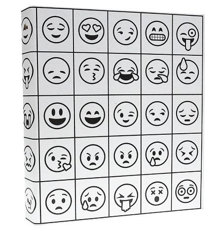 20 Emoji Back to School Supplies. Emoji three ring binders. Adult coloring book inspired.