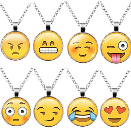 20 Emoji Back to School Supplies. Emoji back to school necklace.