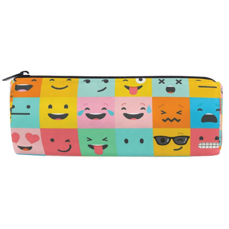 20 Emoji Back to School Supplies. Emoji pencil pouch.