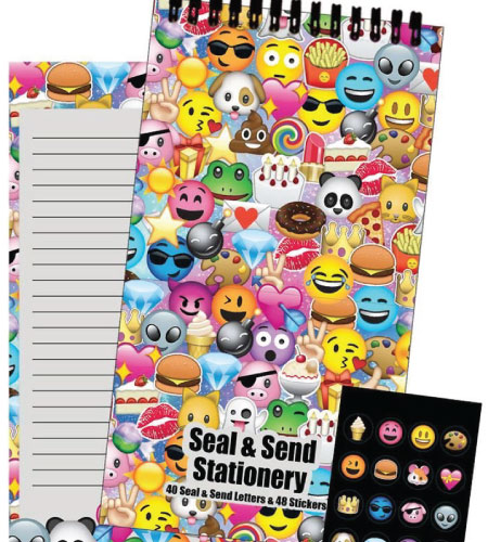 20 Emoji Back to School Supplies. Snail mail. Seal and send with stickers.