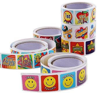 15+ Cute School Supplies for Kids: reward stickers