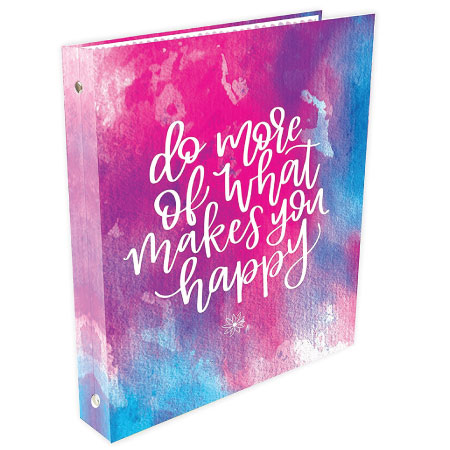 Motivation Three Ring Binder - Cute Back to School Supplies for Girls