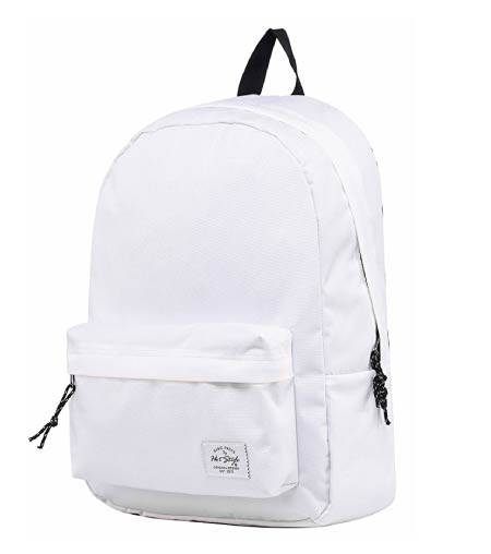 plain white backpack - minimalist back to school supplies