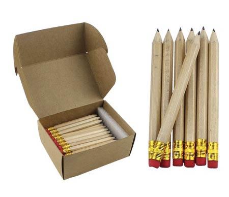 minimalist wooden pencils - simple back to school supplies
