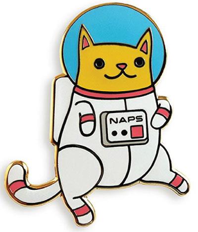 NAPS space kitty cat lapel pin