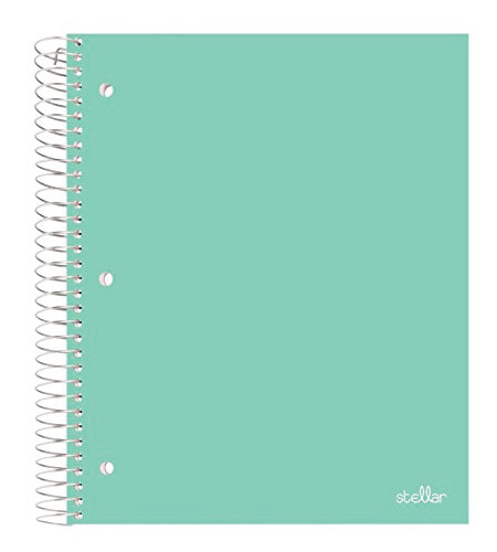 Single subject notebook - mint green back to school supplies